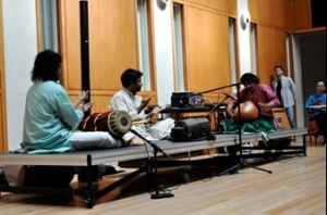 Photo of Prasant performing a Carnatic concert